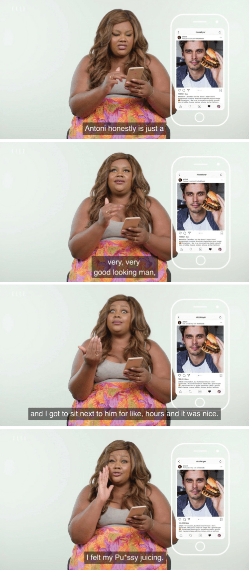 beet: antoni  108,024 likes  antoni m Canadian, but that doesn't mean I don't  appreciate a #summer American staple like a good burger  ! Sometimes I like to go for something classic: ground  beef, cheddar cheese, pickles, lettuce, and an heirloom  Antoni honestly is just a   nicolebyer  antoni  108,024 likes  antoni Im Canadian, but that doesn't mean I don't  appreciate a summer American staple like a good burger  I Sometimes I like to go for something classic: ground  beef, cheddar cheese, pickles, lettuce, and an heirloom  very, very  good looking man,   nicolebyer  antoni  108,024 likes  antoni I'm Canadian, but that doesn't mean I don't  appreciate a #summer American staple like a good burger  dI Sometimes 1 like to go for something classic: ground  beet, cheddar cheese, pickles, lettuce, and an heirloom  and I got to sit next to him for like, hours and it was nice   nicolebyer  bnt oa verthip wth wholetods  108,024 likes  antoni l'm Canadian, but that doesn't mean I dont  appreciate a esummer American staple like a good burger  Sometimes I like to go for something classic: ground  beef, cheddar cheese, pickles, lettuce, and an heirloom  I felt my Pu*ssy juicing