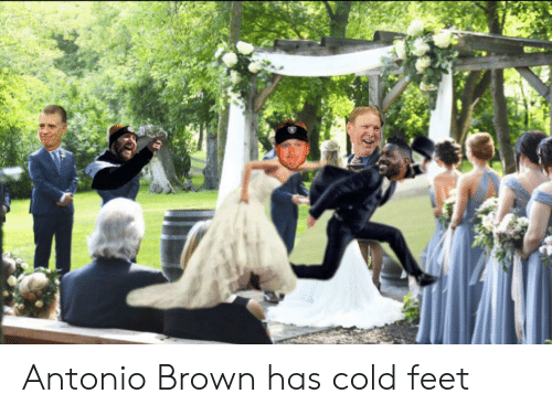 cold feet: Antonio Brown has cold feet
