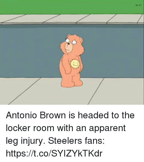 Steelers Fans: Antonio Brown is headed to the locker room with an apparent leg injury.   Steelers fans: https://t.co/SYIZYkTKdr
