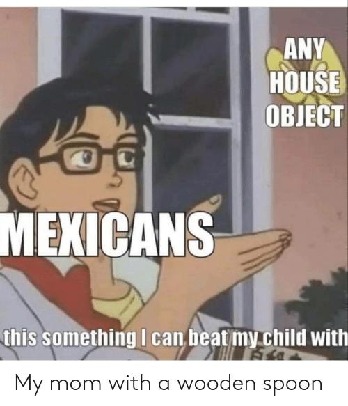 mexicans: ANY  HOUSE  ОВIЕСТ  MEXICANS  this something I can beat my child with My mom with a wooden spoon