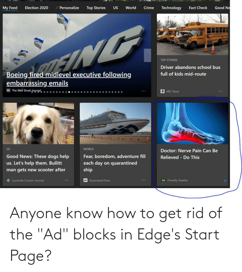 """edges: Anyone know how to get rid of the """"Ad"""" blocks in Edge's Start Page?"""