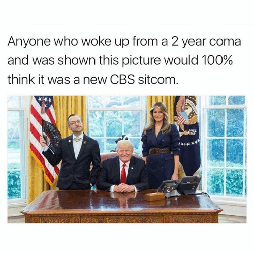 Anaconda, Dank, and Cbs: Anyone who woke up from a 2 year coma  and was shown this picture would 100%  think it was a new CBS sitcom