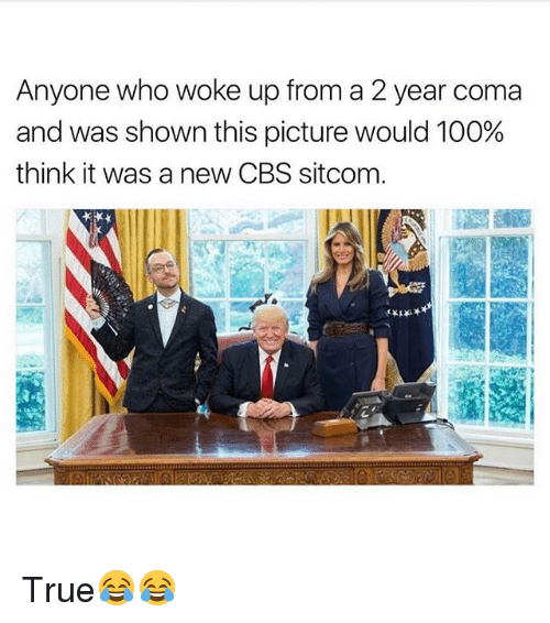 Anaconda, Funny, and True: Anyone who woke up from a 2 year coma  and was shown this picture would 100%  think it was a new CBS sitcom True😂😂
