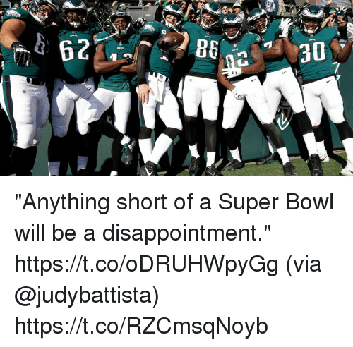 """Memes, Super Bowl, and Bowl: """"Anything short of a Super Bowl will be a disappointment."""" https://t.co/oDRUHWpyGg (via @judybattista) https://t.co/RZCmsqNoyb"""