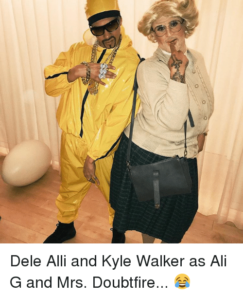 Mrs. Doubtfire: ao Dele Alli and Kyle Walker as Ali G and Mrs. Doubtfire... 😂