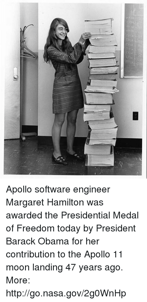 Apollo Software Engineer Margaret Hamilton Was Awarded the ...