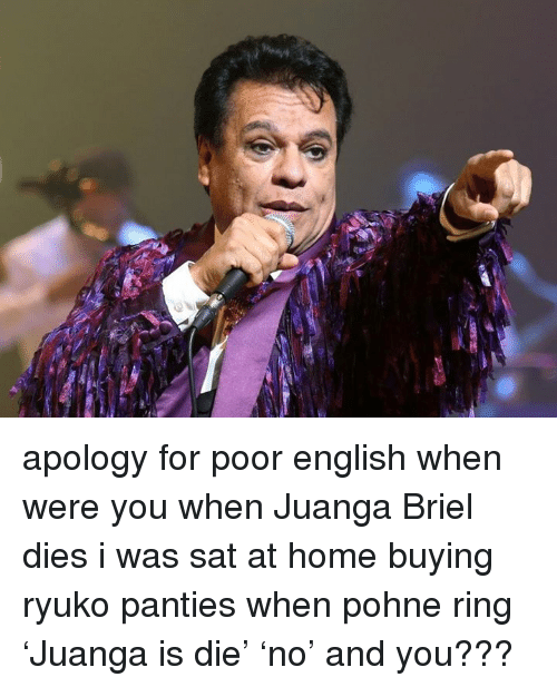 apology for poor english