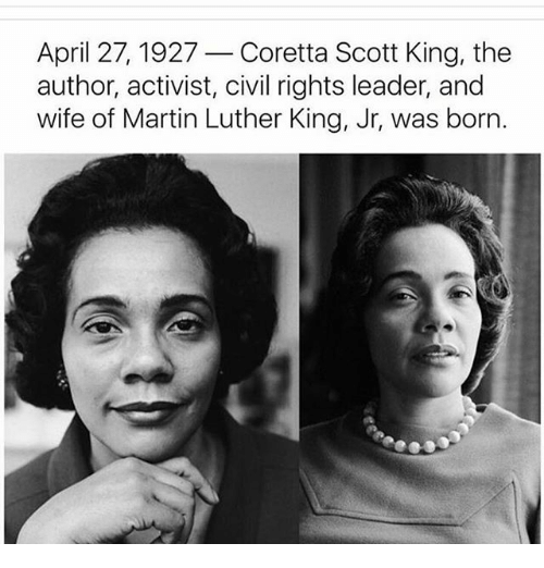 a biography of corretta scott king an international icon for black american justice and civil rights About/contact george cook the youngest daughter of civil rights icons martin luther king, jr and coretta scott king.