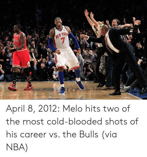 melo: April 8, 2012:  Melo hits two of the most cold-blooded shots of his career vs. the Bulls (via NBA)