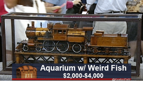 weird fish: Aquarium wl Weird Fish  $2,000-$4,000  @KeatonPatti