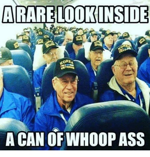 Whoop Ass: ARARE LOOK INSIDE  OREA  A CAN OF WHOOP ASS