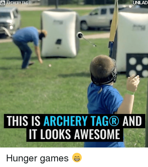 hunger game: ARCHERY TAG®  UNILAD  THIS IS ARCHERY TAGR AND  IT LOOKS AWESOME Hunger games 😁