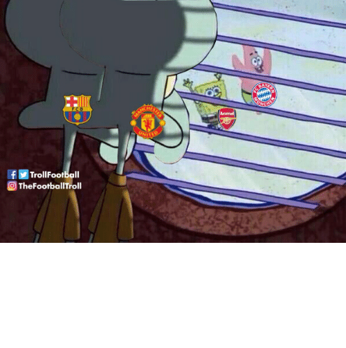 Barcelona: ARCHIETDS  Arsenal  UNITRR  fTrollFootball  TheFootballTroll Barcelona & Man Utd fans right now https://t.co/0NmNRJVplD