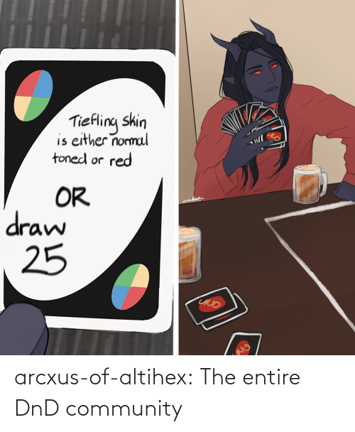 DnD: arcxus-of-altihex:  The entire DnD community