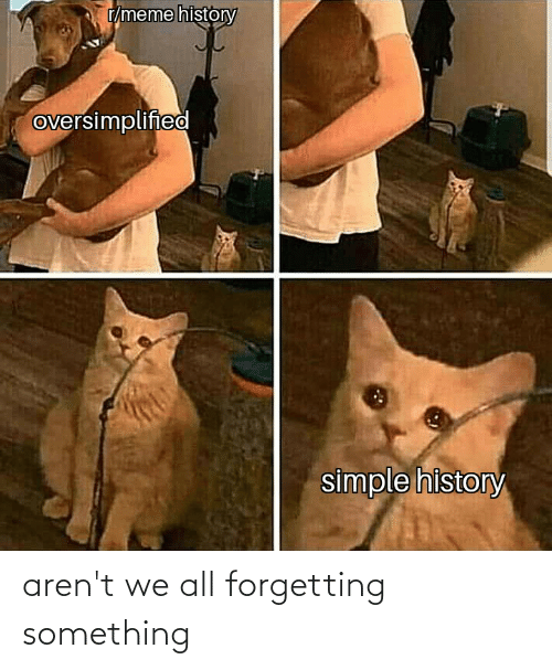 Forgetting: aren't we all forgetting something