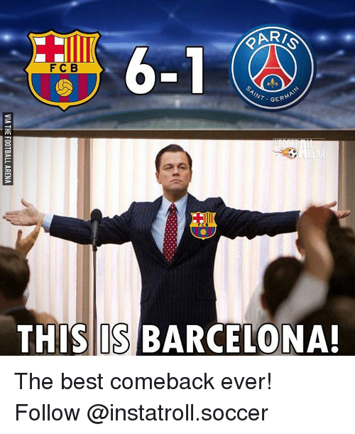 Best Comeback Ever: ARI  F C B  AINT  GER  THIS IS BARCELONA! The best comeback ever! Follow @instatroll.soccer