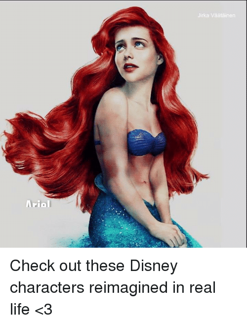 Arial Jirka Vaatainen Check Out These Disney Characters