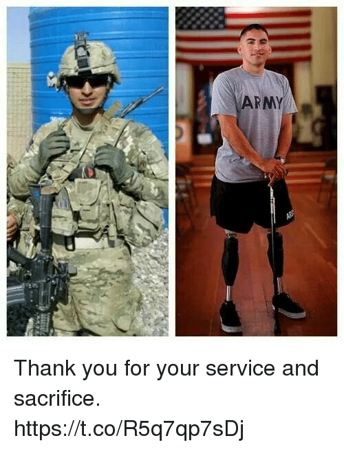 Memes, Army, and Thank You: ARMY Thank you for your service and sacrifice. https://t.co/R5q7qp7sDj