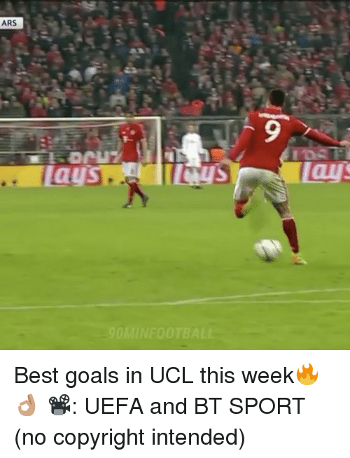 best goals: ARS  Lay Best goals in UCL this week🔥👌🏽 📽: UEFA and BT SPORT (no copyright intended)
