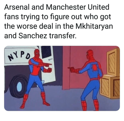 Manchester United: Arsenal and Manchester United  fans trying to figure out who got  the worse deal in the Mkhitaryan  and Sanchez transfer.