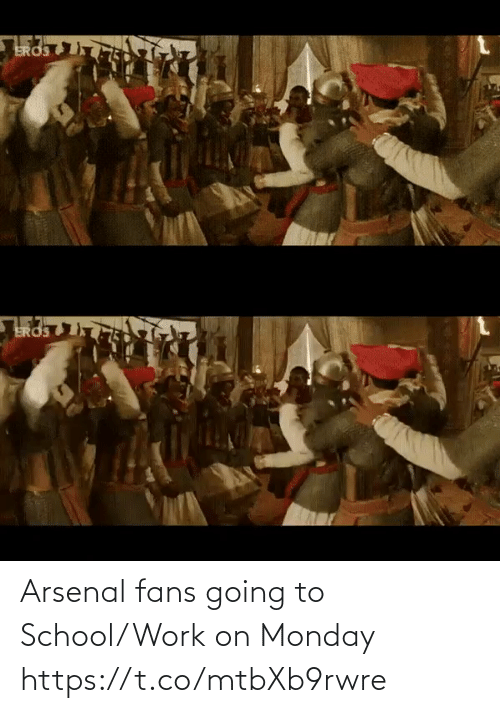 Monday: Arsenal fans going to School/Work on Monday  https://t.co/mtbXb9rwre