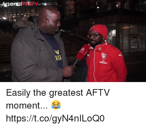 Arsenal, Soccer, and Fly: Arsenal  FanTV  na  Fly  ra Easily the greatest AFTV moment... 😂  https://t.co/gyN4nILoQ0