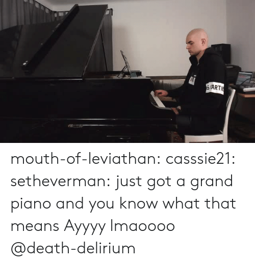 Ayyyy: (ART mouth-of-leviathan:  casssie21:  setheverman:   just got a grand piano and you know what that means  Ayyyy lmaoooo  @death-delirium