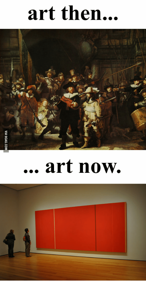 Picture With Deep Meaning: art then...  art now.