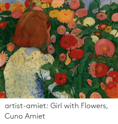 Flowers: artist-amiet:  Girl with Flowers, Cuno Amiet