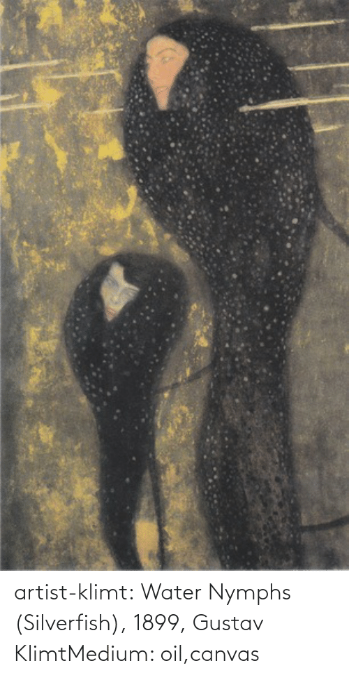 Canvas: artist-klimt:  Water Nymphs (Silverfish), 1899, Gustav KlimtMedium: oil,canvas