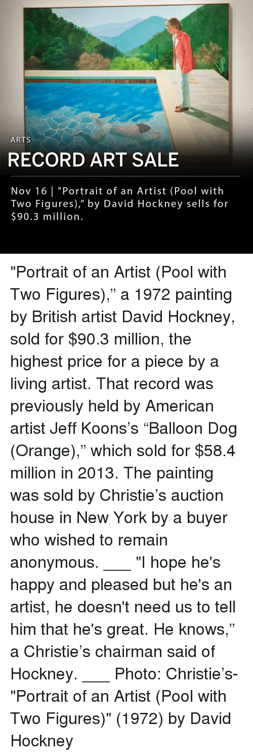 """Christie: ARTS  RECORD ART SALE  Nov 16 
