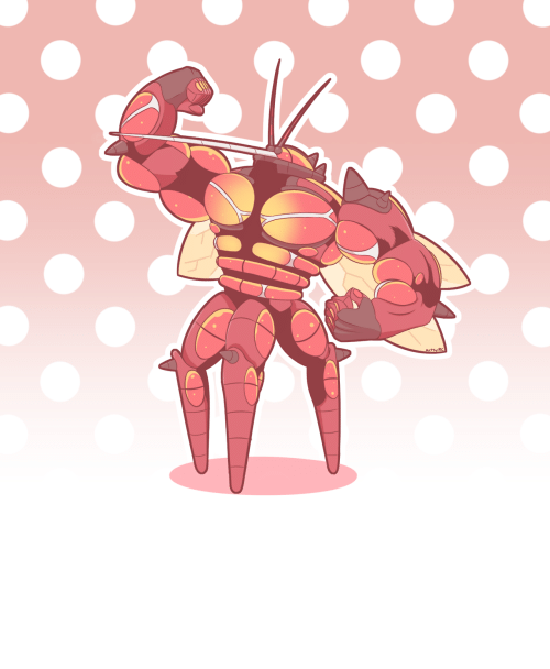 mosquito: artsy RC artsy-rc:   i drew a muscular mosquito