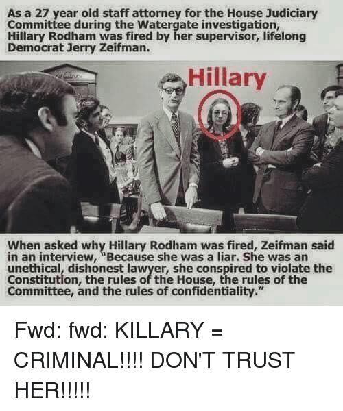Did Jerry Ziefman Fire Hillary Clinton