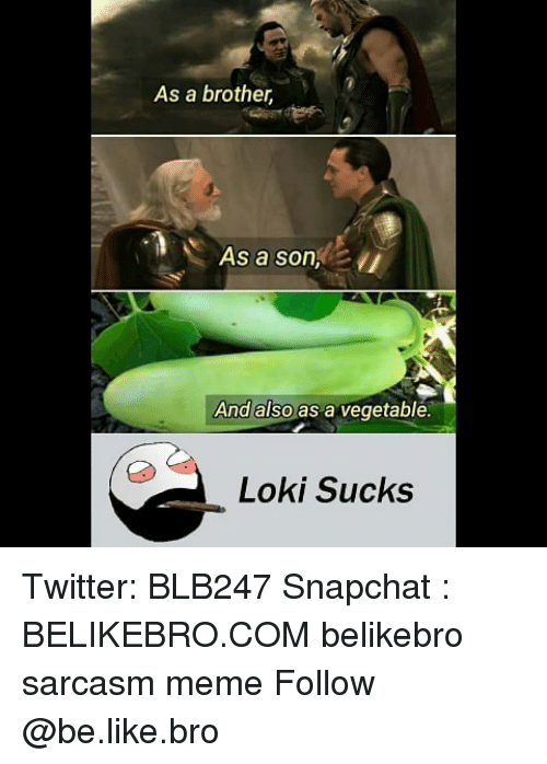 Be Like, Meme, and Memes: As a brother,  As a son  And also as a vegetable  L Sucks Twitter: BLB247 Snapchat : BELIKEBRO.COM belikebro sarcasm meme Follow @be.like.bro
