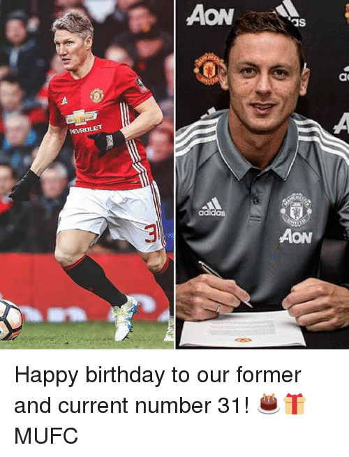 aon: as  ac  AON Happy birthday to our former and current number 31! 🎂🎁 MUFC