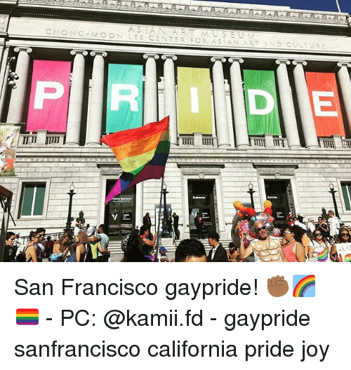 Francisco: AS IAN ART MUSEUM  CHONG-MOON LEE CENTER FOR ASIAN ART AND CULTURE San Francisco gaypride! ✊🏾🌈 🏳️‍🌈 - PC: @kamii.fd - gaypride sanfrancisco california pride joy