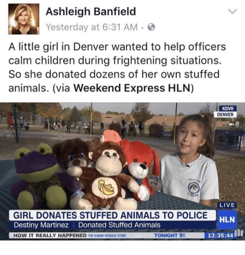 Denver Police News Yesterday: Ashleigh Banfield Yesterday At 631 AM A Little Girl In