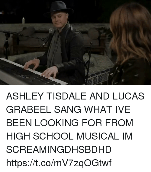 High School Musical, School, and Sang: ASHLEY TISDALE AND LUCAS GRABEEL SANG WHAT IVE BEEN LOOKING FOR FROM HIGH SCHOOL MUSICAL IM SCREAMINGDHSBDHD https://t.co/mV7zqOGtwf