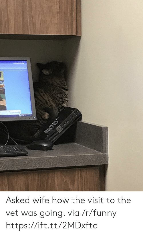 the visit: Asked wife how the visit to the vet was going. via /r/funny https://ift.tt/2MDxftc