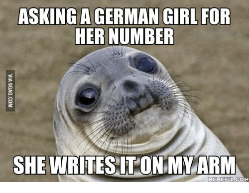 asking agerman girl for her number she writes iton my 13878284 🔥 25 best memes about anger german anger german memes,German Memes