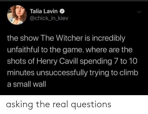questions: asking the real questions