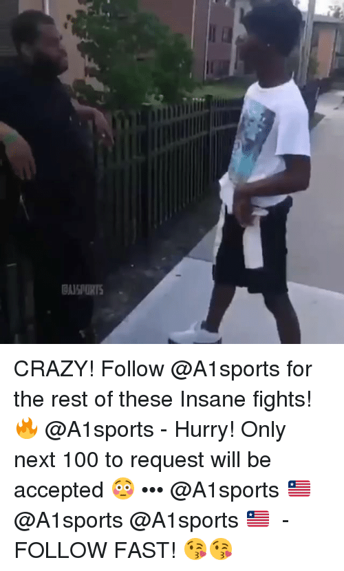 Anaconda, Crazy, and Memes: ASPORTS CRAZY! Follow @A1sports for the rest of these Insane fights!🔥 @A1sports - Hurry! Only next 100 to request will be accepted 😳 ••• @A1sports 🇱🇷 ➟ @A1sports @A1sports 🇱🇷 ➟ - FOLLOW FAST! 😘😘