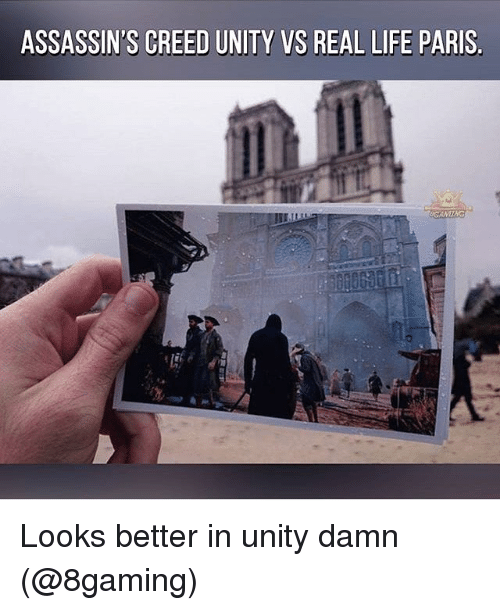 assassin creed: ASSASSIN'S CREED UNITY VS REAL LIFE PARIS Looks better in unity damn (@8gaming)