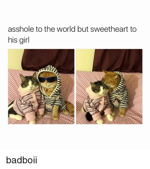 Asshols: asshole to the world but sweetheart to  his girl badboii