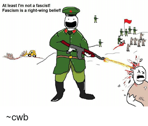 Belief, Fascism, and Right Wing: At least I'm not a fascist  Fascism is a right-wing belief! ~cwb