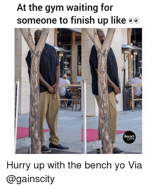 Gym, Yo, and Waiting...: At the gym waiting for  someone to finish up like 5*  CITY Hurry up with the bench yo Via @gainscity