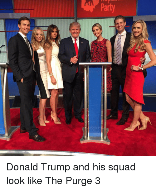 The Purge: Aued Donald Trump and his squad look like The Purge 3
