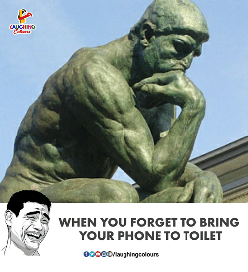 Phone, Indianpeoplefacebook, and You: AUGHING  Colours  WHEN YOU FORGET TO BRING  YOUR PHONE TO TOILET  0OOO/laughingcolours
