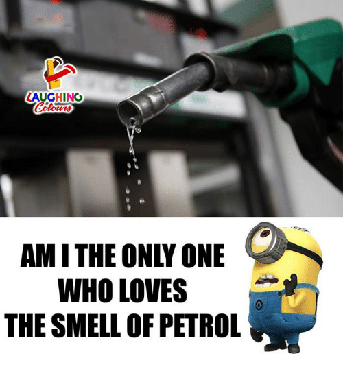 Smell, Only One, and Indianpeoplefacebook: AUGHING  Colows  AM I THE ONLY ONE  WHO LOVES  THE SMELL OF PETROL