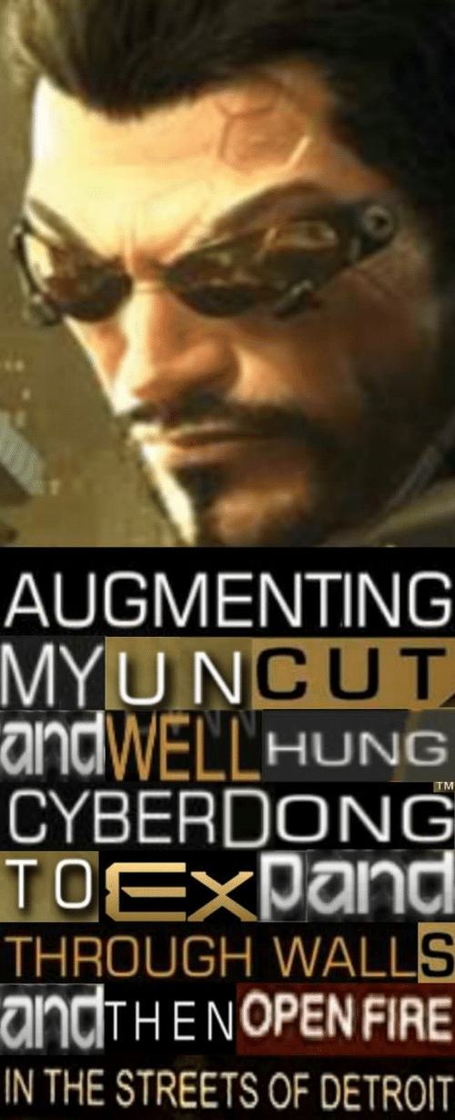 Augmenting: AUGMENTING  U NCUT  MY  andWELL HUNG  CYBERDONG  TOEXDand  THROUGH WALLS  andHENOPENFIRE  N THE STREETS OF DETROIT  TM